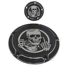 Skull Five Holes Edge Cut Derby Timing Timer Cover for Harley FXSB FLHR FLHT