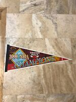 "CHICAGO BULLS~1996 NBA CHAMPIONS~30"" FULL SIZE NEW PENNANT~Wincraft 1990s USA"