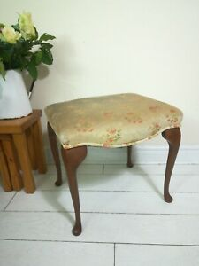 Dressing Stool Piano Footstool Queen Anne Legs Project Vintage