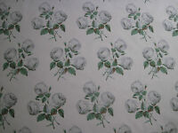 """COLEFAX AND FOWLER FABRIC DESIGN """"Bowood"""" 6 METRES GREY & GREEN 100% COTTON"""
