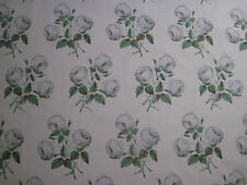 "COLEFAX AND FOWLER FABRIC DESIGN ""Bowood"" 2 METRES GREY & GREEN 100% COTTON"