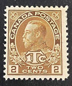 Canadian Stamp, Scott MR4 2c + 1c War Tax 1916 Admiral Scott F/VF M/H. Brown