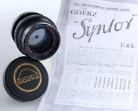 "Goerz Optical Co. Syntor Kenro K 8.25"" f 6.8 lens only sn#834234 386742"