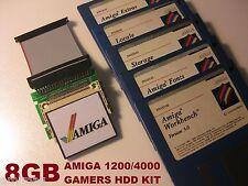 AMIGA 1200/4000 GIOCHI 8gb unità disco rigido CF whdload HDD + DEMO + OEM WB 3.0