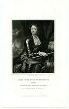 James Scot, Duke Of Monmouth, Charles Ii Son/General/Executed, Engraving (8144)