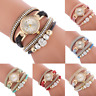 Ladies Fashion Simple Watch Women Stainless Steel Alloy Round Bracelet watch