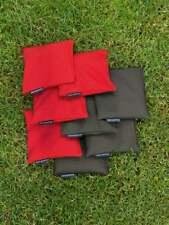 8 Cornhole Säckchen - 400g Kunststoff Granulat Füllung - 15x15 cm - Beanbag