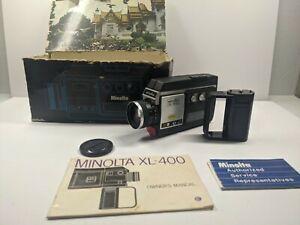 BEAUTIFUL Minolta XL 400 Super 8 Movie Camera Cine Film Tested 100% WORKING!