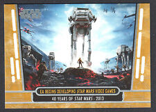 STAR WARS 40th ANNIVERSARY 2017 Topps PARALLEL GOLD CARD #97 (#28/40)