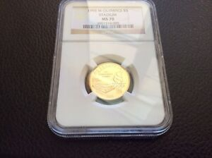 1996 W $5 GOLD OLYMPIC STADIUM COMMEMORATIVE NGC MS70 Perfect Coin