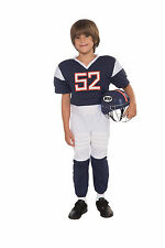 Kids Football Player Costume with Helmet Sports Cosplay Child Size Md 8-10