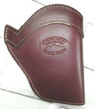 """Leather IWB Holster For Colt Official Police 2"""", Left, Burgundy Barsony 68-8BU"""