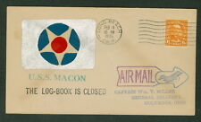 United States, 1935 Long Beach Ca handpainted cachet posted shortly after crash