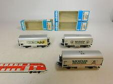 AU308-1# 3x Märklin H0/AC Vagone trasporto birra: 4422 DB+4417 DB+4567 Gösser