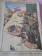 Production Francaises Du Blé du vin de l'or des berceaux vides dessin Print 1935