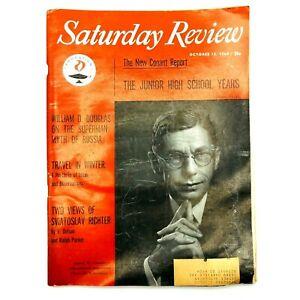 Saturday Review Oct1960 Magazine Sviatoslav Richter Theodore White Andre Malraux