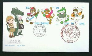 Japan Letter Writting Day 2003 Cartoons Manga Animation Crocodile (stamp FDC)