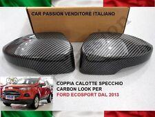 CALOTTE SPECCHIO CARBON LOOK FORD ECOSPORT 2012> retrovisori MIRROR COVER DX SX