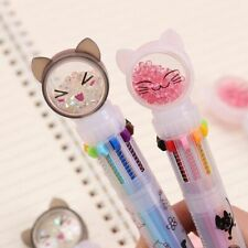 Flash Drilling Cat Ballpoint Pen 10 Color For Office School Stationery Supplies