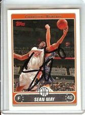Sean May 06-07 Topps Signed Card Auto Autograph