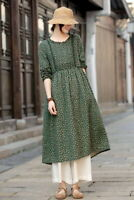 Robe tunique ample lin  Mori ancien shabby hippie chic retro boheme vintage