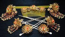 Vintage Japanese Wedding Bride Kanzashi Chrysanthemum Kimono Hair Ornament #993
