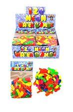 120 Water Bomb Balloons Outdoor Summer Kids Party Bags Garden Neon Toys Children