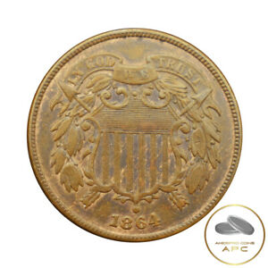 1864 Two Cent Piece Civil War Era Beauty