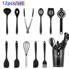 12Pcs Kitchen Utensils Set Silicone Cooking Utensils Heat Resistant Kitchen Tool