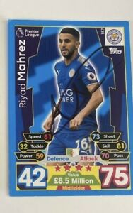 Riyad Mahrez Signed Autograph Original Leicester  Football Card