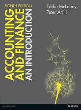 Accounting and Finance: An Introduction by Eddie McLaney Paperback Book