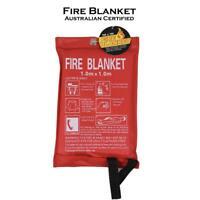 Fire Blanket 1mx1m For Home Kitchen Office Caravan Emergency Australian Standard