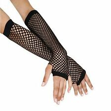 NEW Costume Black Dance Goth Fishnet Gloves Lace Mesh