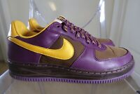 2006 Nike Force 1 INSIDEOUT IO BISON BROWN PRO GOLD PURPLE 312486-272 Size 8.5