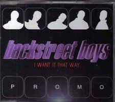 Backstreet Boys-I Want It That Way Promo cd single