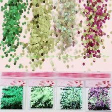 4pcs/set Light Grass Green Gradient Glitter Sequins For UV Gel Nail Art Craft