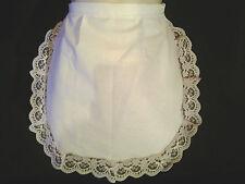LADIES WHITE 50'S STYLE WAIST WAITRESS APRON PINNY pinklace fancydress HEN PARTY