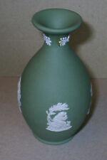 Wedgwood Jasperware Sage Green Bottle Vase