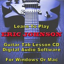 ERIC JOHNSON Guitar Tab Lesson CD Software - 29 Songs