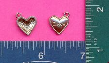 100 wholesale lead free pewter love heart charms 1252