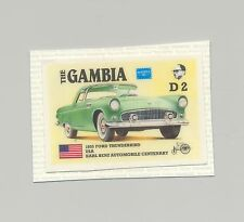Gambia #624, Automobiles, Ford Thunderbird 1v imperf chromalin proof mounted