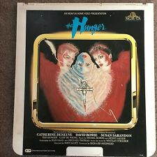 RCA Selectavision Videodisc CED Movie THE HUNGER Disc David Bowie