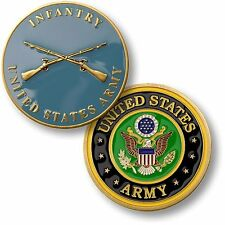 U.S. Army - Infantry / Muskets - MerlinGold Challenge Coin