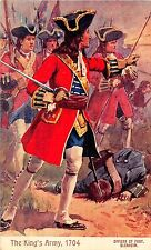 POSTCARD    MILITARY   The Kings Army  1704  Officer of  Foot  BLENHEIM