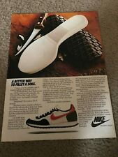 Vintage 1982 NIKE TERRA T/C WAFFLE RUNNING SHOES Poster Print Ad 1980s RARE