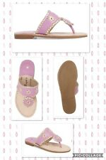 b7deac0fc3e Girl s Jack Rogers Miss Hollis Sandals Lavender Pink Gold Leather Sz 2