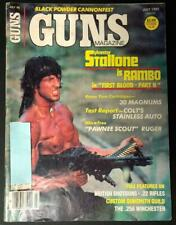 GUNS MAGAZINE JULY 1985 SYLVESTER STALLONE COVER RAMBO FIRST BLOOD PART II