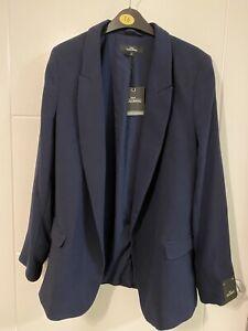Next Bnwt Navy Tailored Blazer Jacket Size 10