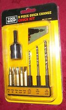 9 PIECE QUICK CHANGE CHUCK KIT- NEW, BY TOOL SHOP