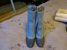 Casadei Made In Italy High Heel Rain Boots Womens Size 5 Blue